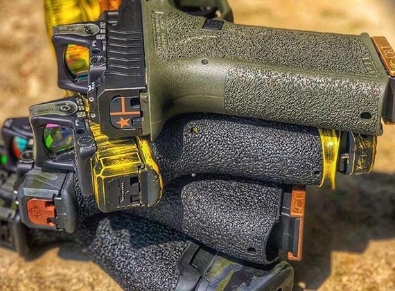 Custom Glock Back Plates   Classy Raptor Tactical